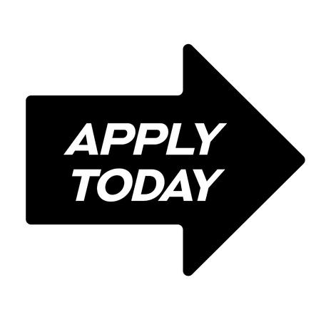 apply today black stamp, sticker, label, on white background Illustration