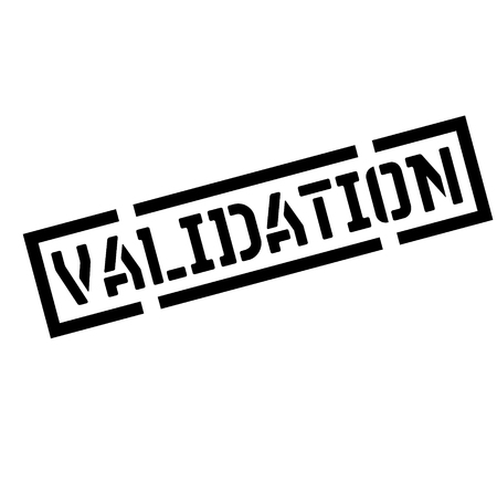 cachet noir de validation