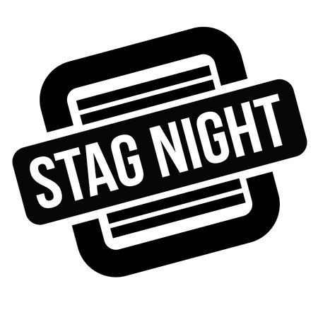 stag night black stamp, sticker, label, on white background Ilustración de vector