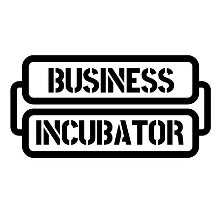 business incubator stamp on white background. Sticker or label.