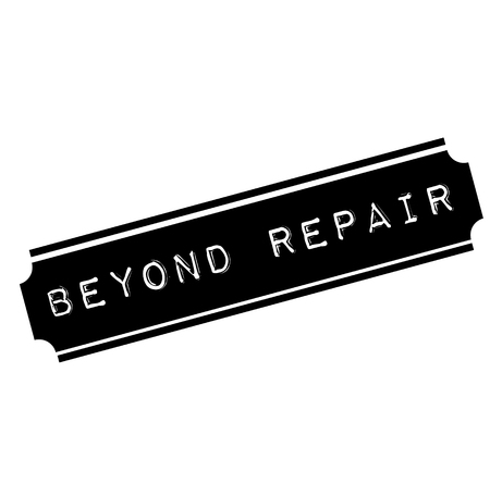 beyond repair black stamp, sticker, label, on white background