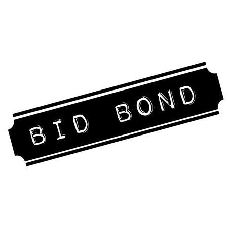 Bid Bond schwarzer Stempel, Aufkleber, Etikett, auf weißem Hintergrund