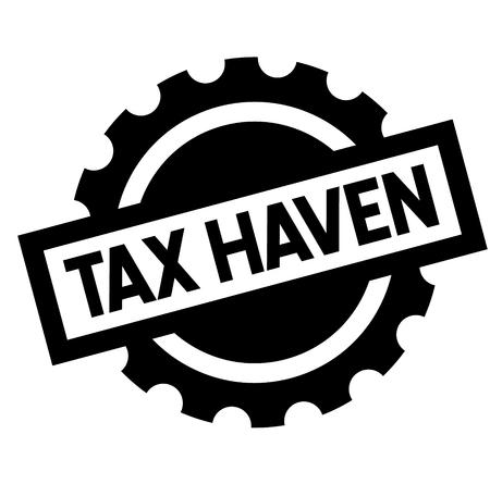 tax haven black stamp, sticker, label, on white background
