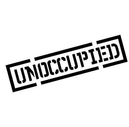 unoccupied black stamp, sticker, label on white background