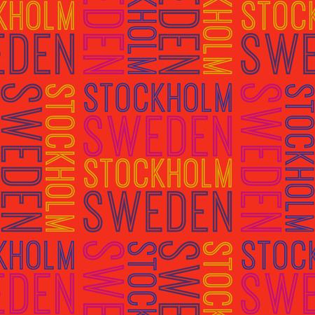 Stockholm, Sweden seamless pattern Иллюстрация