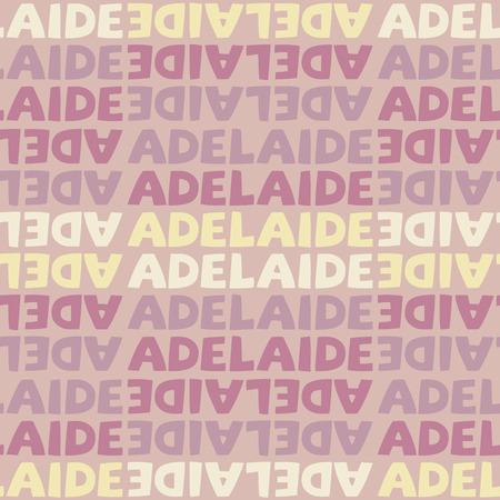 Adelaide, Australia seamless pattern, typographic city background texture Illustration
