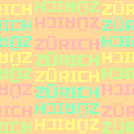 Zurich, Switzerland seamless pattern, typographic city background texture Illustration