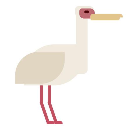 heron flat illustration Wild life plants and animals series Иллюстрация