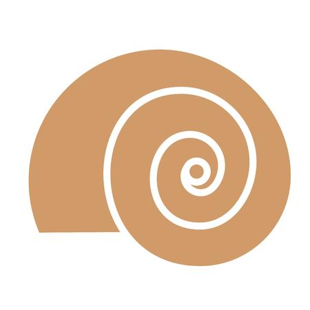 snail flat illustration Illustration