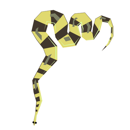 snake flat illustration Wild life plants and animals series