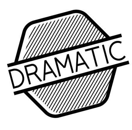 Dramatic stamp on white background. Sign, label sticker