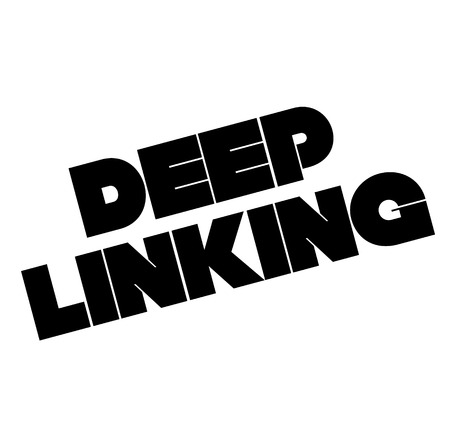Deep linking stamp on white background. Sign, label, sticker Illustration