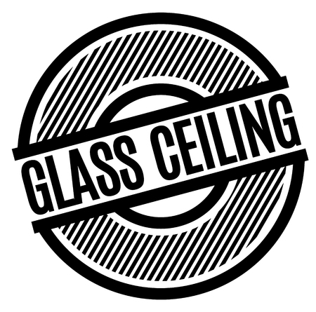 Glass Ceiling stamp on white background. Sign, label, sticker