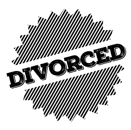 Divorced stamp on white background. Sign, label sticker