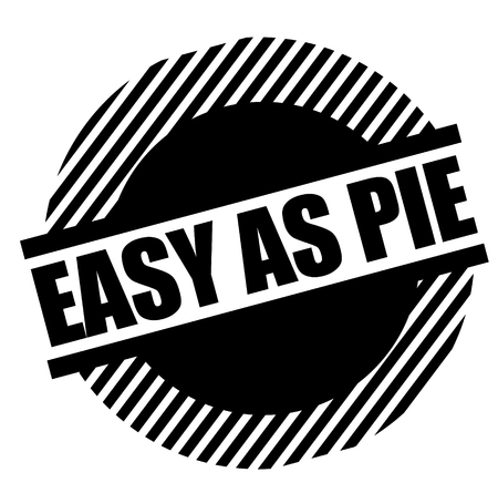Easy as pie stamp on white