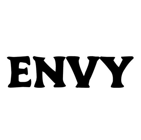 Envy stamp on white Banco de Imagens