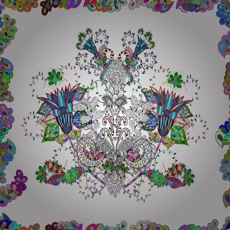 Soft tile. Soft cotton design. Vector frourish texture. Seamless floral background for wrapping, textile, wallpaper. Vintage flowery pattern. Ilustração