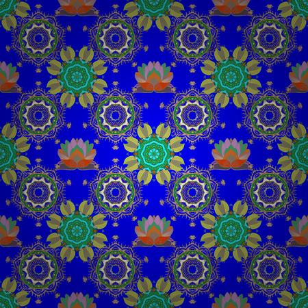 Cute fabric pattern. Colour Summer Theme seamless pattern Background. Print. Flat Flower Elements Design. Cute seamless pattern. Vector floral background.