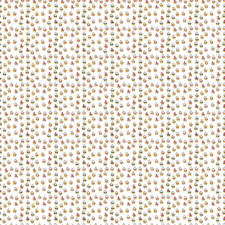 Vector illustration. Sweets background design. Seamless pattern with sweet Cupcakes pattern. Nice birthday background on gray, white and yellow.