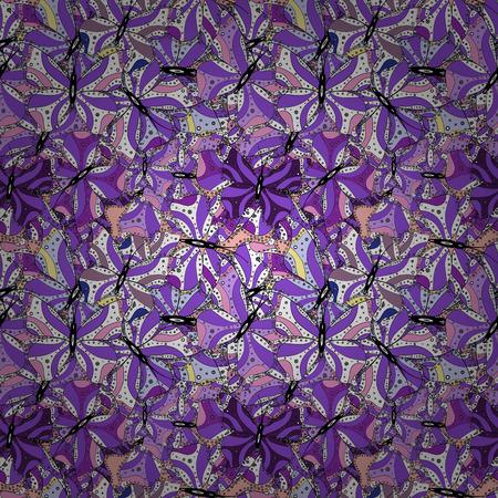 Varicolowhite, violette und schwarze nahtlose Vektorgrafik. Entwerfen Sie Verpackungs- und Geschenkpapier, Grußkarten, Banner und Plakate.