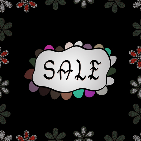 Special Sale Banner or Sale Poster Design. Vector. Advertising pictures in black, white and gray colors. Lettering. Seamless.