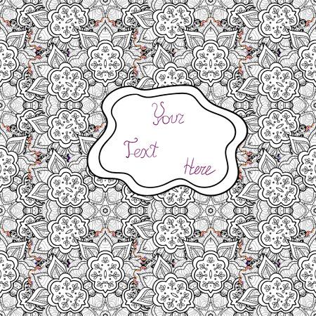 Abstract motif background. Vector illustration. Ultrafashionable fabric pattern. Ilustração