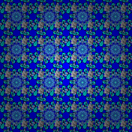 Floral seamless pattern background. Flowers on blue, black and gray colors. Flower painting vector for t shirt printing.