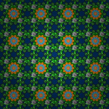 Vector illustration. Flourish ornamental spring garden texture. Flower seamless background. Floral pattern. 矢量图像