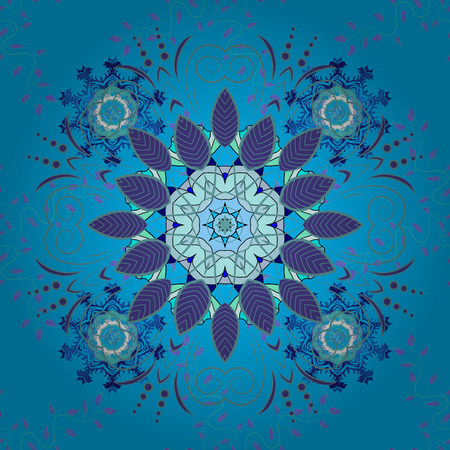 Motley illustration. Small colorful flowers. Vector cute pattern in small flower. The elegant the template for fashion prints. Spring floral background with blue, violet and neutral flowers.