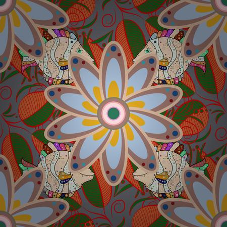 Beautiful watercolor Bouquet of summer flowers seamless pattern. Nice fabric pattern.