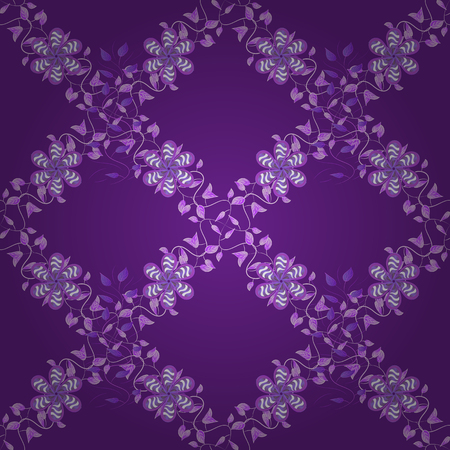 Seamless Tony fabric pattern. Cute Floral pattern in the small flower. Vector illustration. Fashionable fabric pattern.