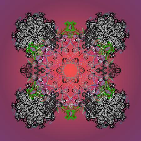 Snowflake Icon. Vector illustration. Snowflake Vector illustration. Snowflake isolated on colored background.