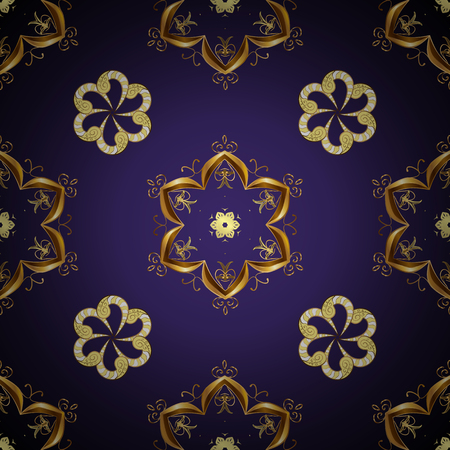 Wallpaper baroque, damask. Seamless vector background. Graphic modern seamless pattern on violet and gray colors. Seamless floral pattern. Vetores