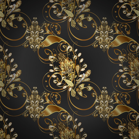 Vector - stock. Seamless Gentle, spring on beige, gray and brown colors. Modern stylish texture.