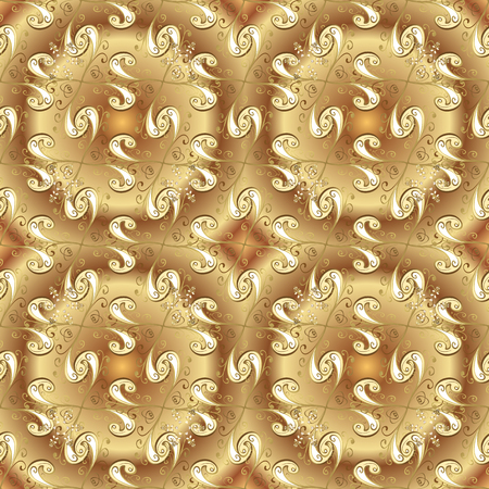 Luxury furniture. Carving. Seamless element. Small depth of field. Pattern on beige and brown colors with golden elements. Beige and brown backdrop with gold trim. Patina. Furniture in classic style.
