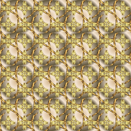 Seamless Beautiful fabric pattern. Vector. Doodles beige and neutral on colors.