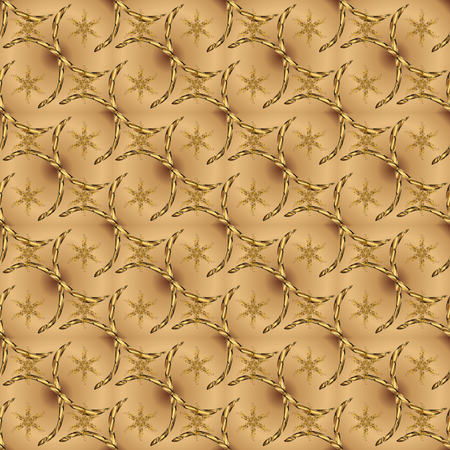 Vector abstract pattern page for antistress. Can be used for cards, invitations, save the date cards and many more. On beige and brown colors. Vector illustration. Ilustração