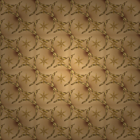 Nice background. Abstract doodles pattern. Beige and brown on colors. Vector illustration. - stock. Seamless Cute fabric pattern.