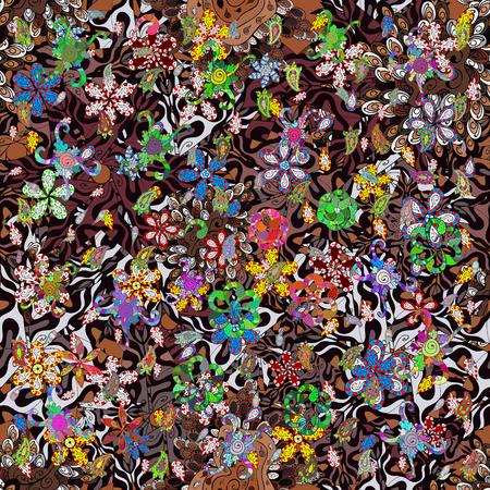 Ultrafashionable fabric pattern. Abstract motif background. Vector illustration.