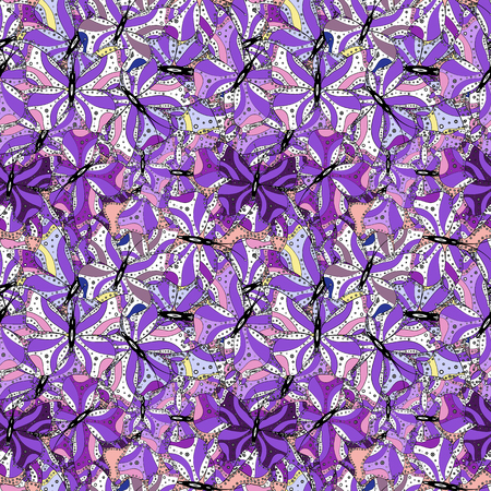 Vector illustration. Ultrafashionable fabric pattern. Abstract motif background. Ilustração