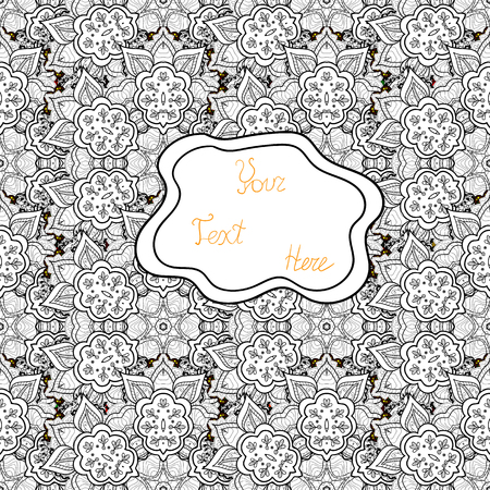 Sketch cute background. Nice pattern for wrapping paper vector. Doodles gray, white and black on colors. Foto de archivo - 123645888