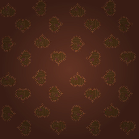 Nice brown colors elements. Love wedding background design. Vector illustration. Seamless Valentine heart love seamless pattern with heart.