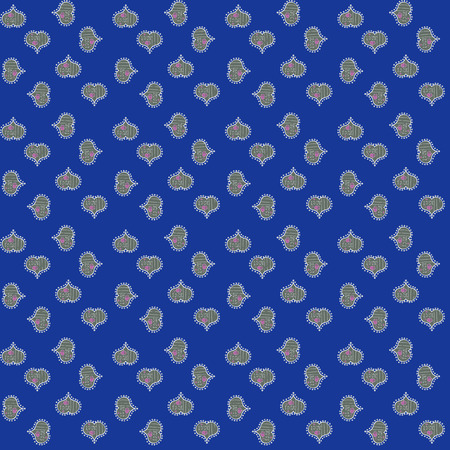 Vector illustration. Seamless Happy Valentine':s Day card seamless background pattern heart. Cute blue, gray and white colors elements.