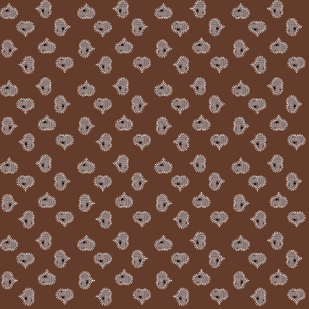 Valentine':s with brown, gray and white elements. Vector illustration. Heart pattern. Seamless Geek valentine':s day hearts background. 矢量图像