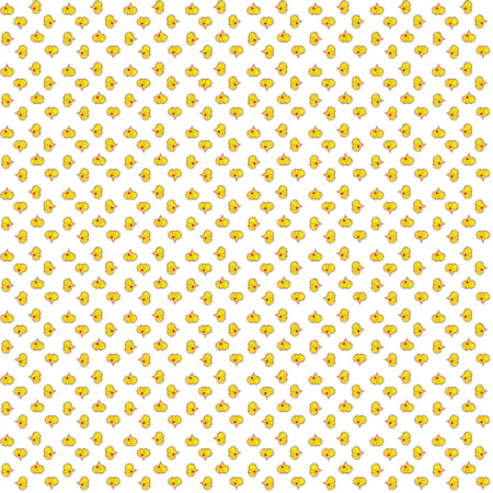Seamless love pattern with hearts. Vector illustration. Cartoon hearts love on white, yellow and brown colors on cute background. Our love is magic.