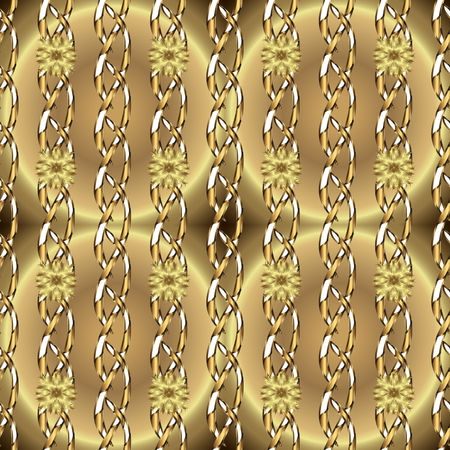 Ornate decoration. Luxury, royal and Victorian concept. Vector vintage baroque floral seamless pattern in gold. Golden pattern on a beige and neutral colors with golden elements.