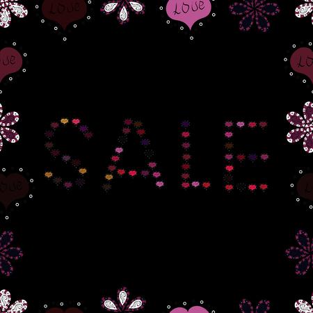 Illustration vectorielle. Lettrage de vente d'été chaud dans les couleurs violet, rouge et noir. Certificat-cadeau, bon, modèle de coupon avec pastèque texturée à l'aquarelle sur fond rayé tendance. Vecteurs