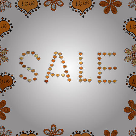 End of season sale. Seamless pattern. Vector. Illustration in black, orange and white colors. Vivid marble texture Vector illustration. Frames. Marketing banners in trendy style design. Ilustração