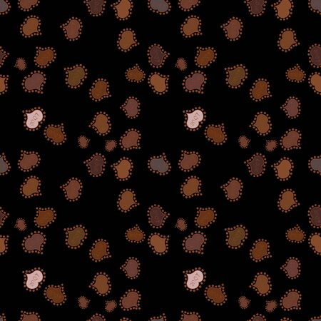 Vector illustration. Doodles pattern. Design wrapping and gift paper, greeting cards, banner and posters design. Black, brown and neutral on colors. Seamless pattern Abstract cute background. Ilustração