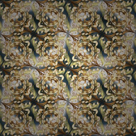 Seamless Beautiful fabric pattern. Vector - stock. Doodles cute pattern. Nice background. Beige and brown on colors.